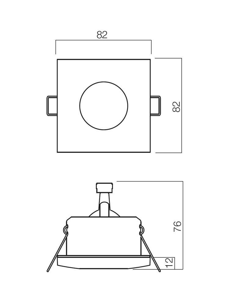 Spot incastrat ELC 1104 70126, GU5.3, alb