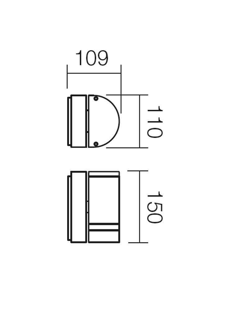 Aplica exterior Focus 9811, 1 x GU10