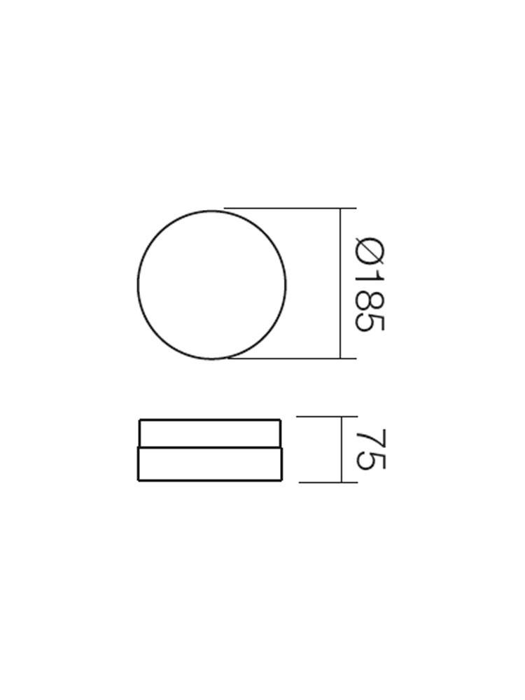 Plafoniera pentru baie Teo 01-237, 1 x E14