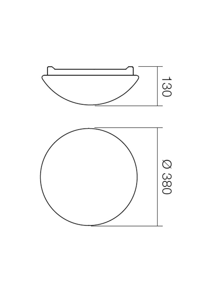Plafoniera pentru baie Ibis 01-399, 2 x E27