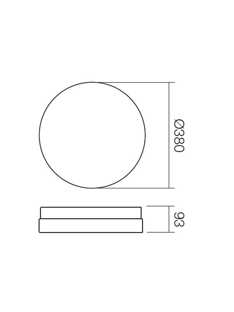 Plafoniera pentru baie Teo 01-401, 2 x E27