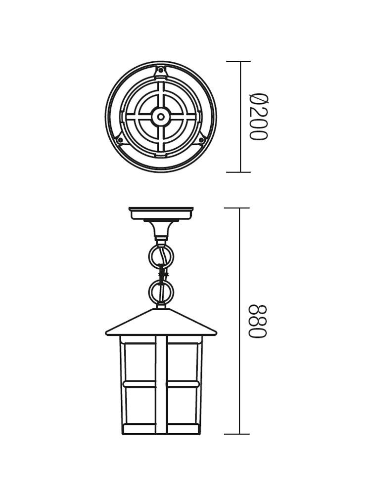 Suspensie exterior Bari 9841, 1 x E27