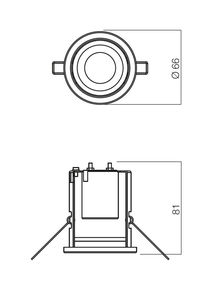 Spot incastrat FR 39 70219, E14 / R39, alama rosie antica