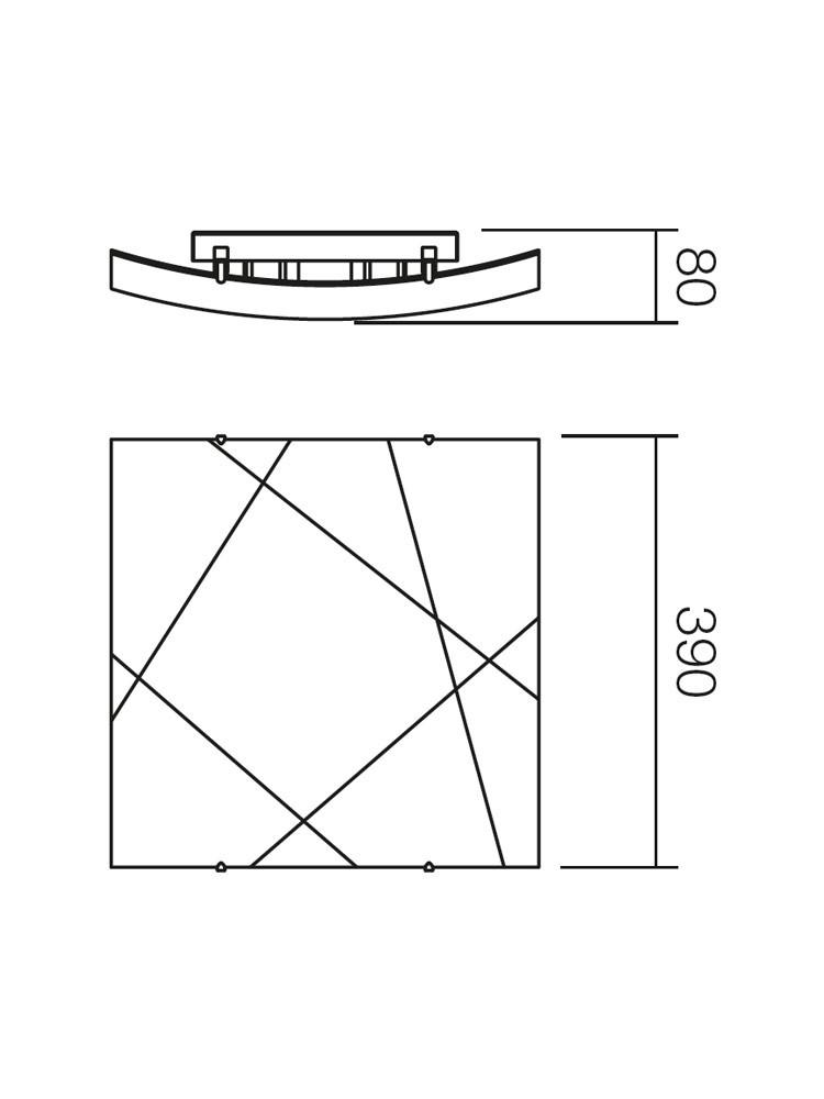 Plafoniera Selene 05-567, 2 x E27