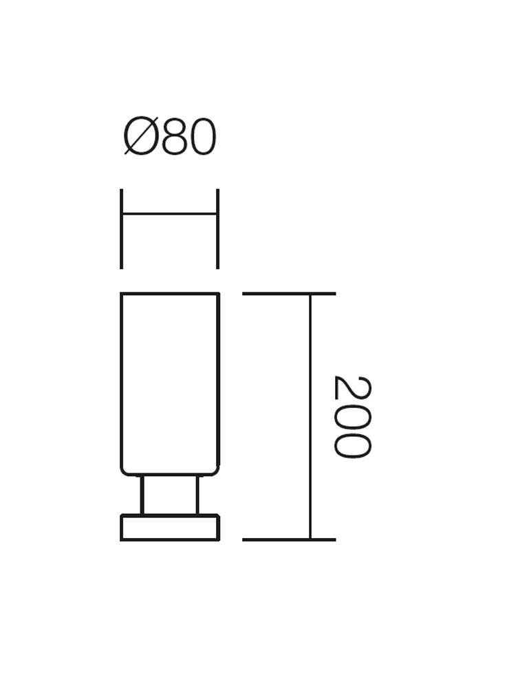 Veioza Lika 01-434, 1 x E14, alba