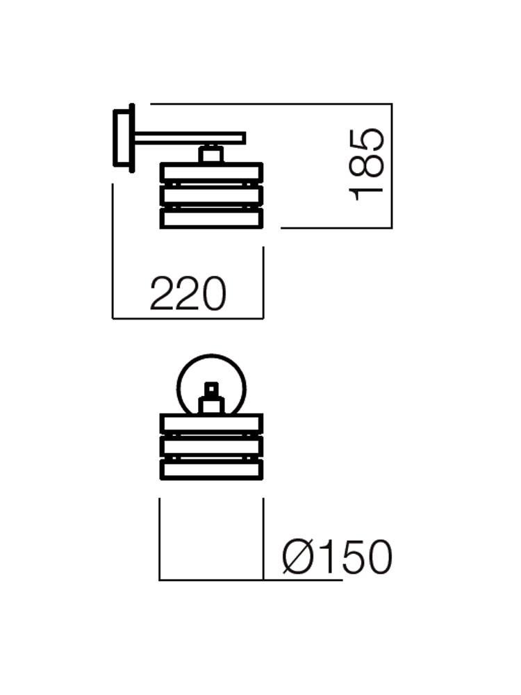 Aplica Kim 01-474, 1 x E14