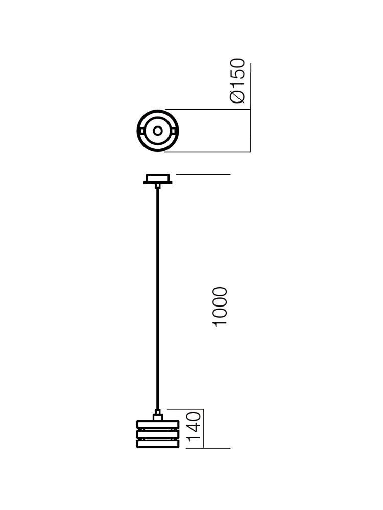 Suspensie Kim 150 01-475, 1 x E14