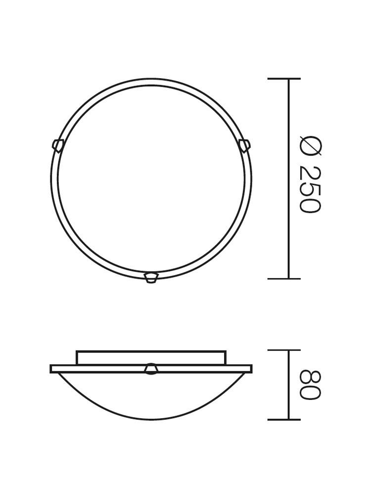 Plafoniera Virginia 05-677, 1 x E27, alb, D250 mm