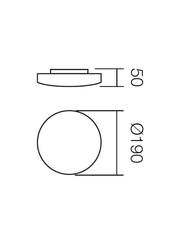 Plafoniera Rondo 05-572, 1 x G9, 33W