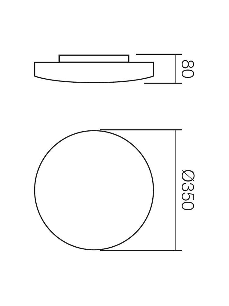 Plafoniera Rondo 05-574, 2 x E27