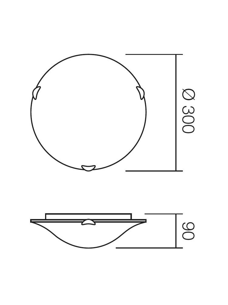 Plafoniera Isis 05-639, 1 x E27, alba
