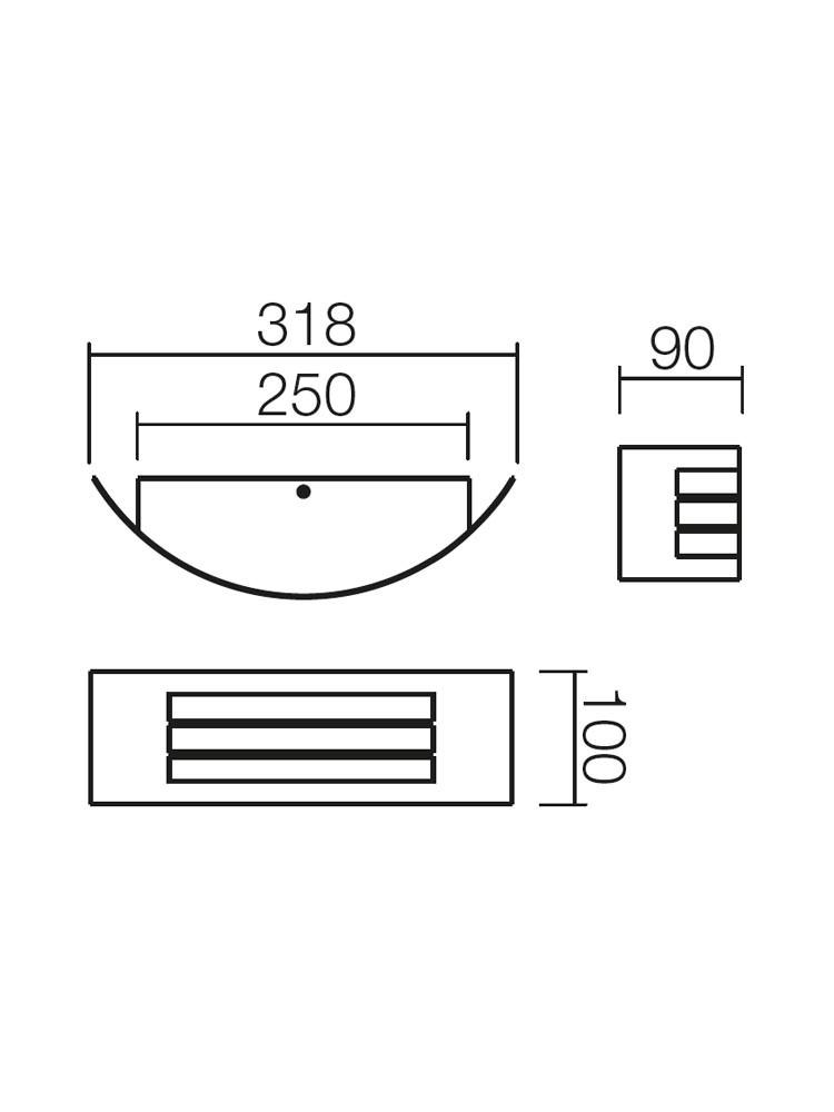Aplica exterior Linea 9357, 1 x E27