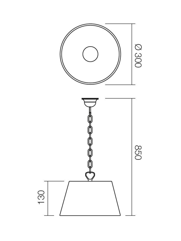Suspensie Isis L 05-643, 1 x E27, alb
