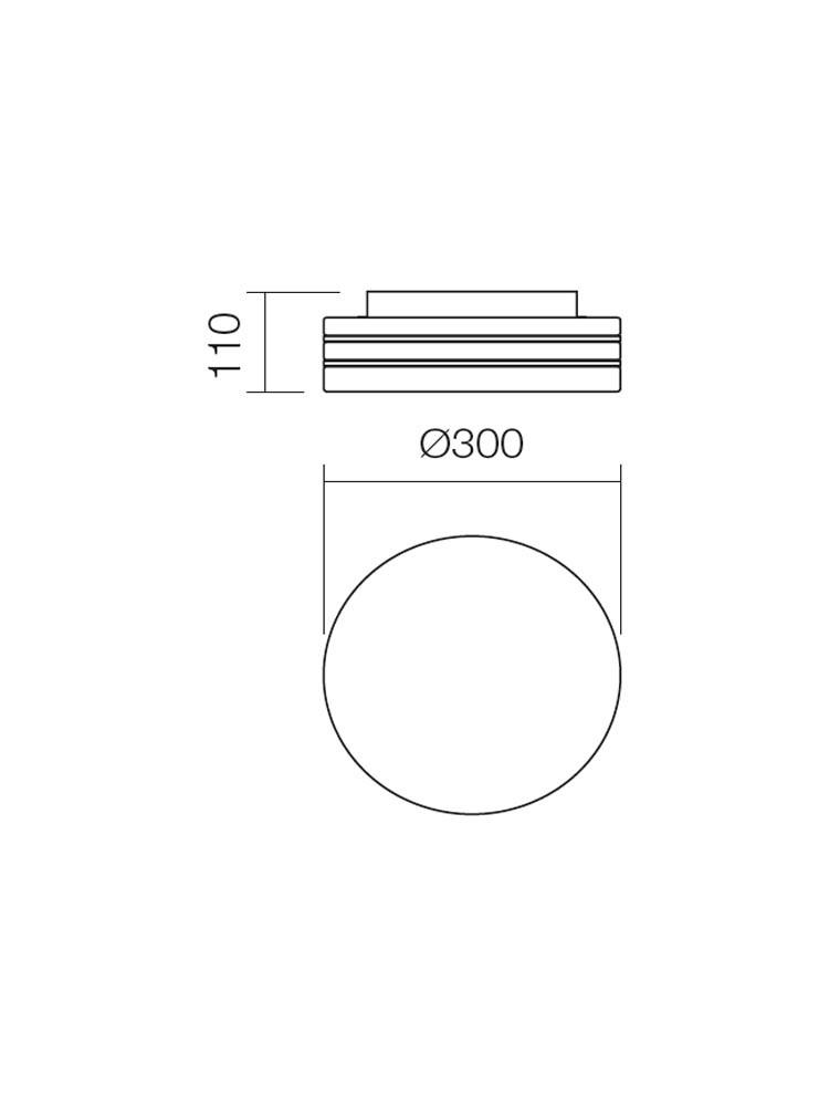 Plafoniera pentru baie Orbital 01-698, 2 x E27, D 300 mm