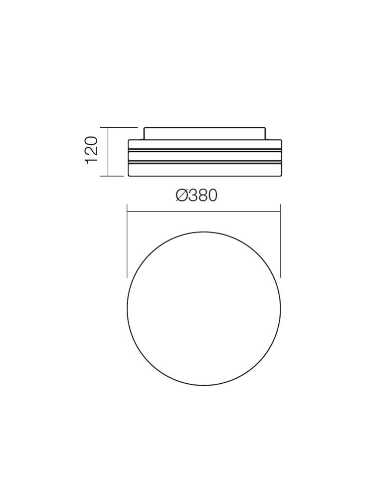 Plafoniera pentru baie Orbital 01-699, 3 x E27, D 380 mm