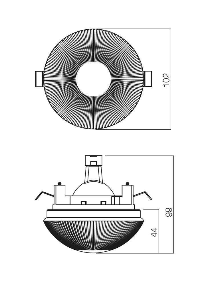 Spot incastrat ST 200 70202, GU5.3, alb satinat