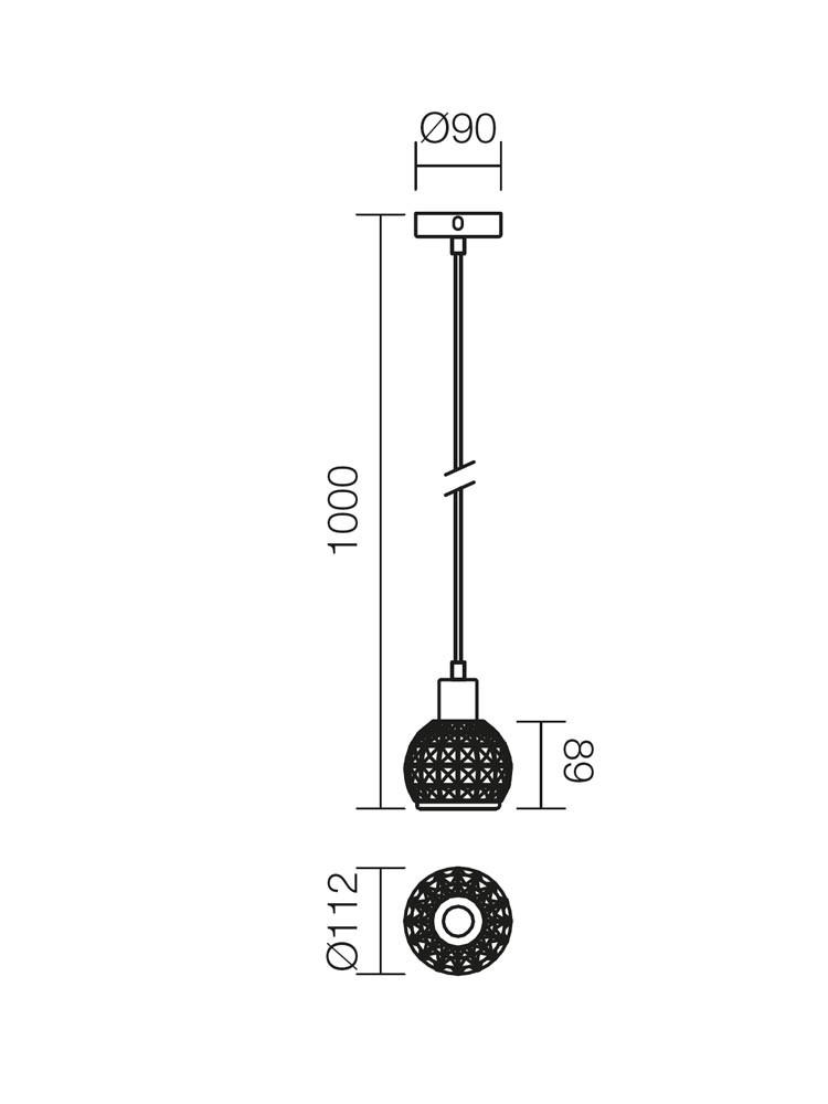 Suspensie Diamond 04-370, 1 x E14