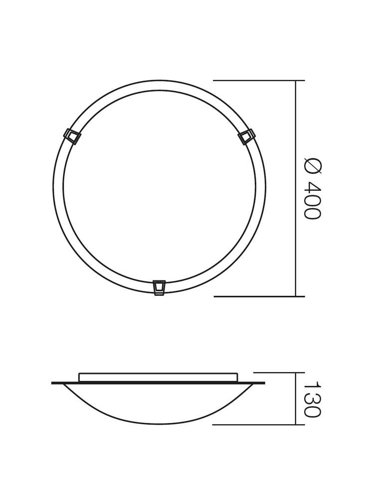 Plafoniera Etrusca 05-789, 2 x E27
