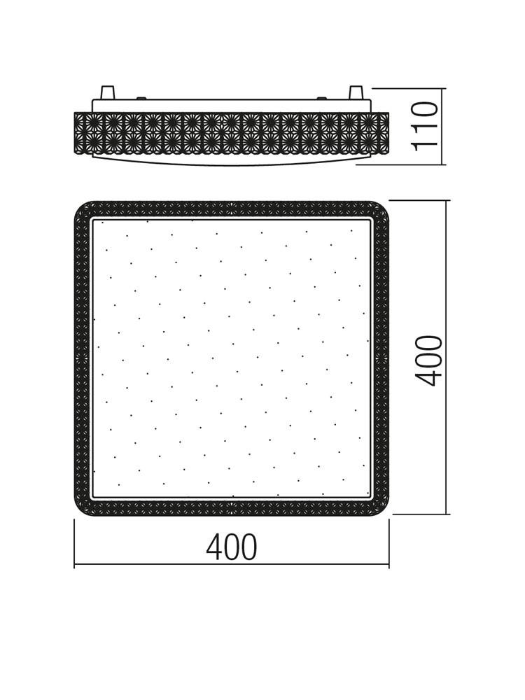 Plafoniera LED Tetris 05-846, 24W, lumina neutra