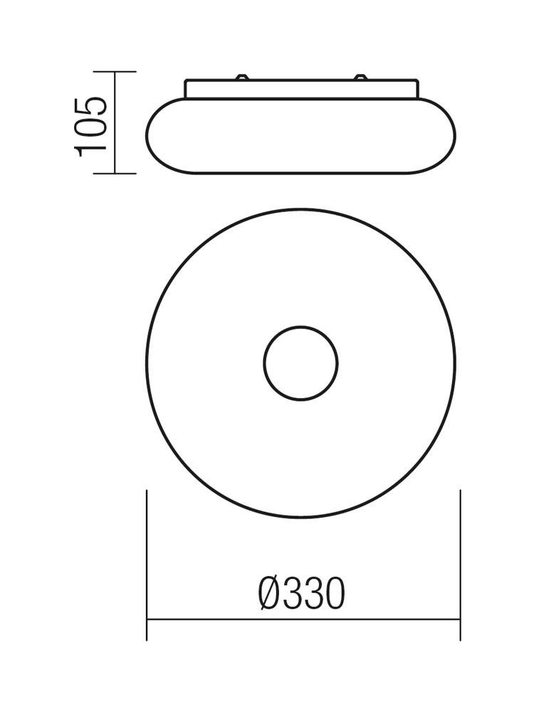 Aplica LED Smarter Jade 01-1173, 12W