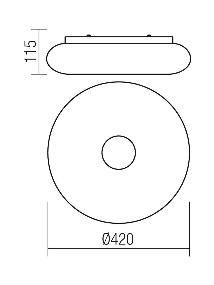 Plafoniera LED Jade 01-1174, 18W