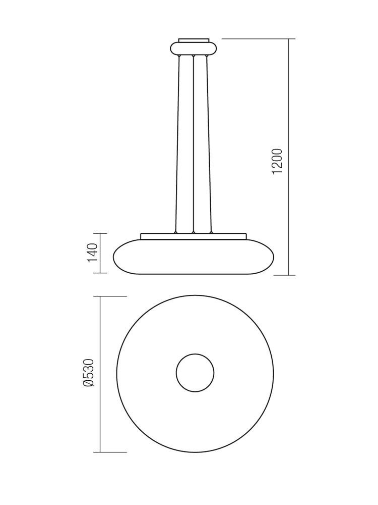 Suspensie LED Smarter Jade 01-1175, 24W