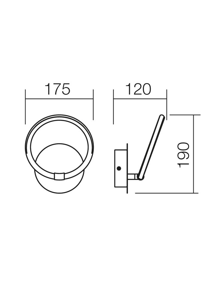 Aplica LED Halo 01-1180, 5W