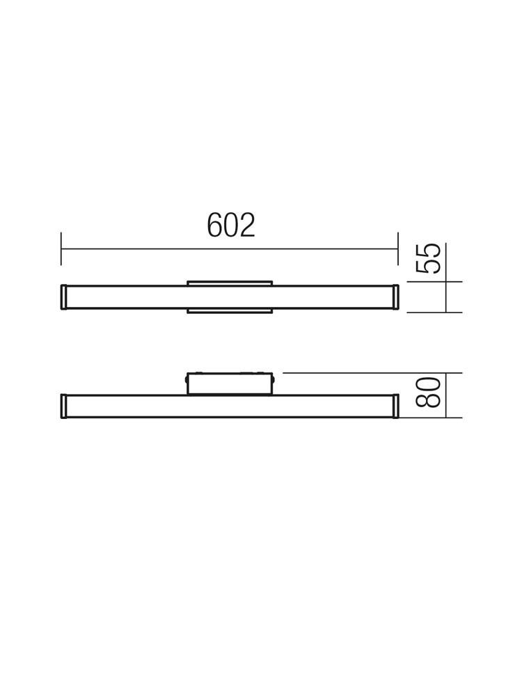 Aplica LED pentru baie Jester 01-558, 9.6W, lumina neutra