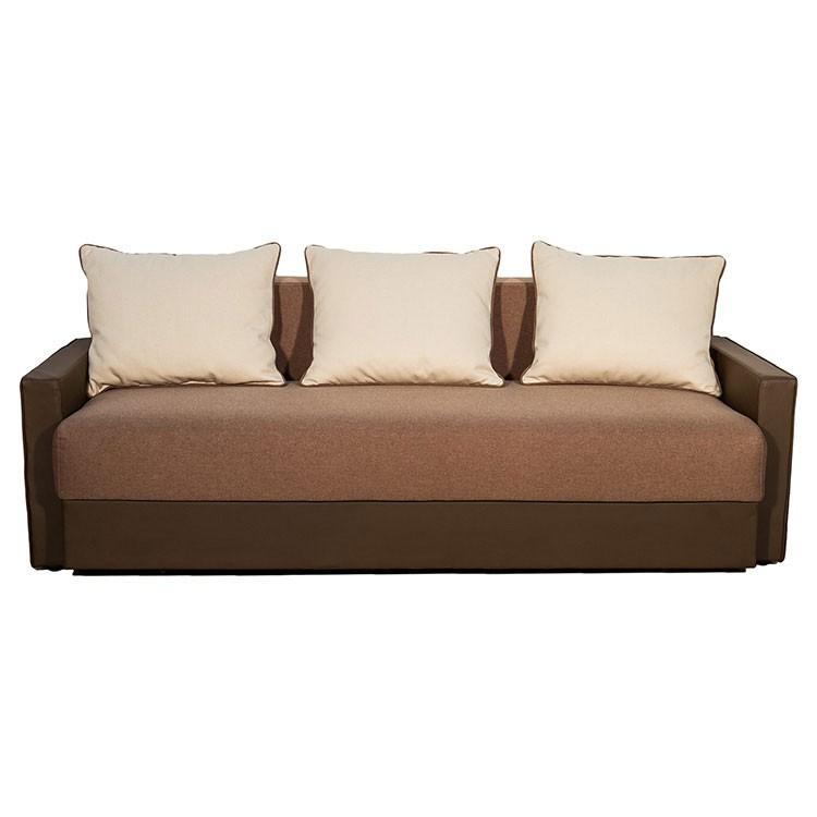 Canapea extensibila 3 locuri Lucia, maro + bej, 210 x 100 x 85 cm, 3C