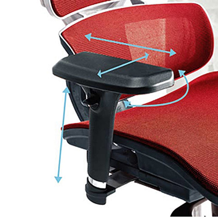 Scaun birou ergonomic LA-862MH-1, mesh, rosu