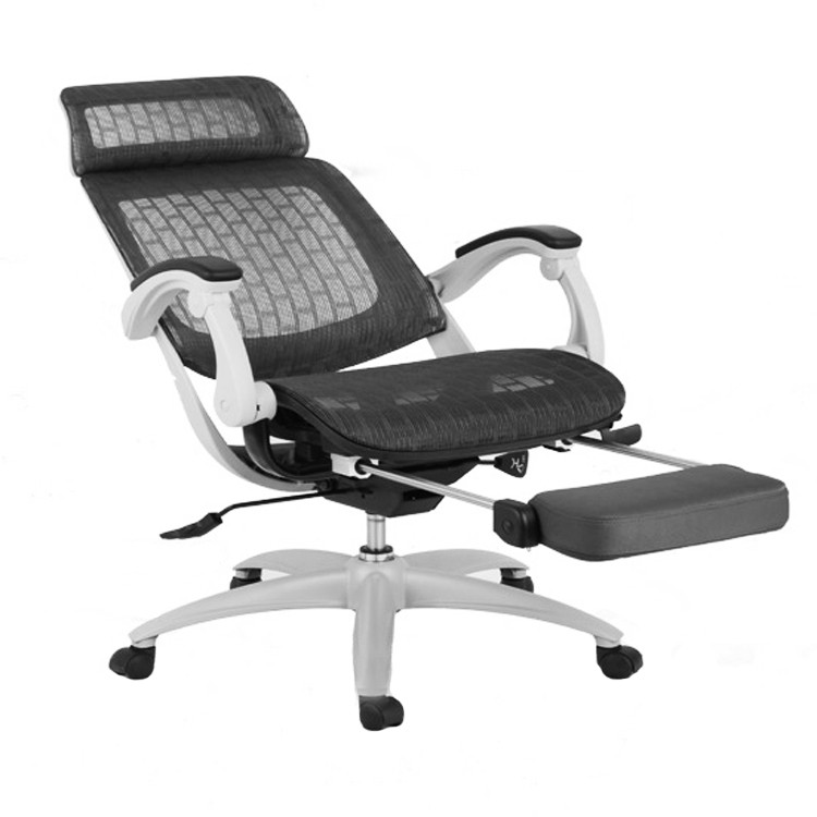 Scaun birou ergonomic HLC-2003FX-1K, rotativ, mesh, gri