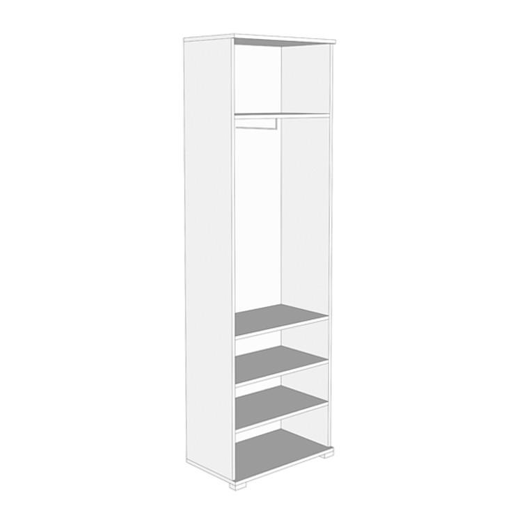 Dulap hol Amos 1K cu o agatatoare, oglinda si rafturi, stejar sonoma + latte, 2 usi, 600 x 350 x 1900 mm, 1C