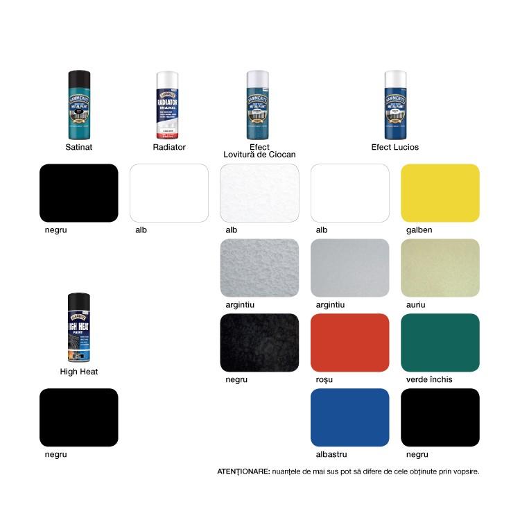 Spray email Hammerite, efect lucios, interior / exterior, alb, 0.4 L