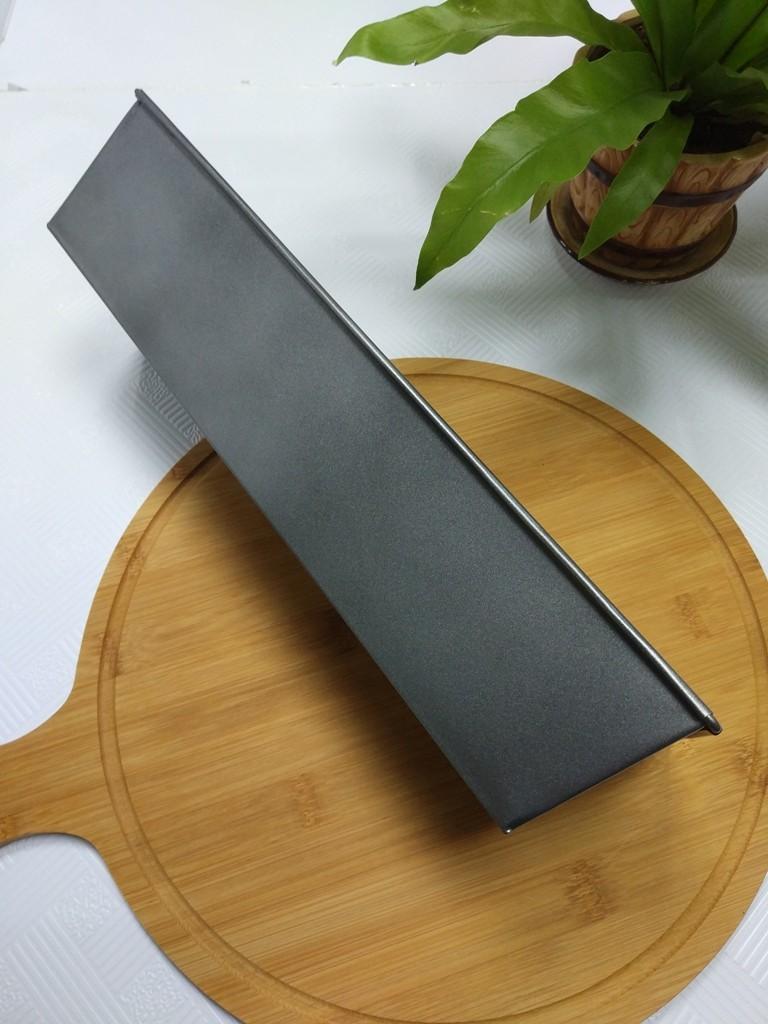 Tava dreptunghiulara pentru copt, otel carbon, anti-aderenta, gri, 35 x 11.5 x 7.5 cm