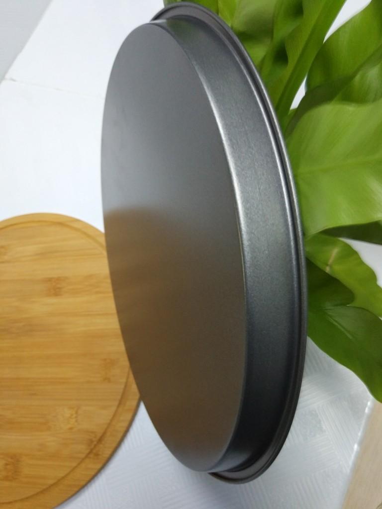 Tava rotunda pentru copt, otel carbon, anti-aderenta, gri, 29.5 x 2 cm