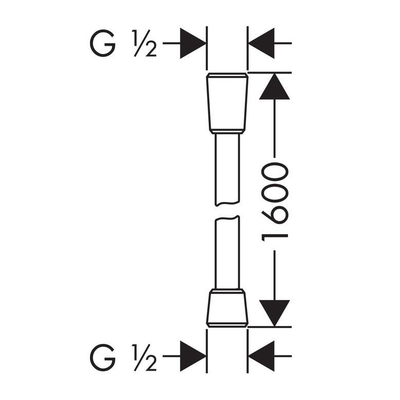 Set dus para + furtun + suport + bara, Hansgrohe My Select E 26714402, 3 functii, 1.6 m