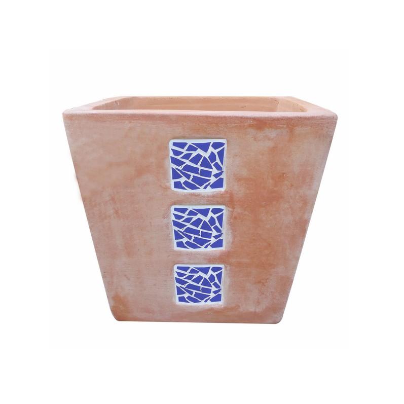 Ghiveci ceramic UDHH01, maro, patrat,  35 x 35 x 29 cm
