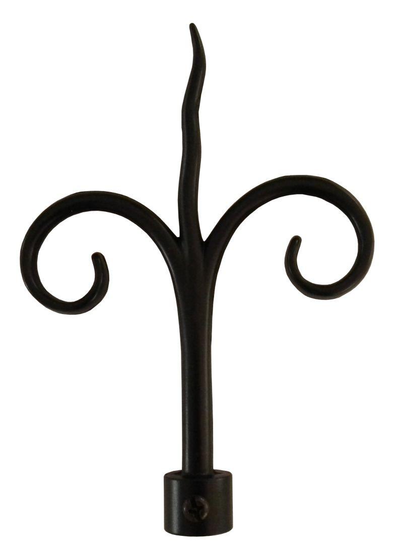 Cap galerie, copac, 20 mm, negru 2593171511