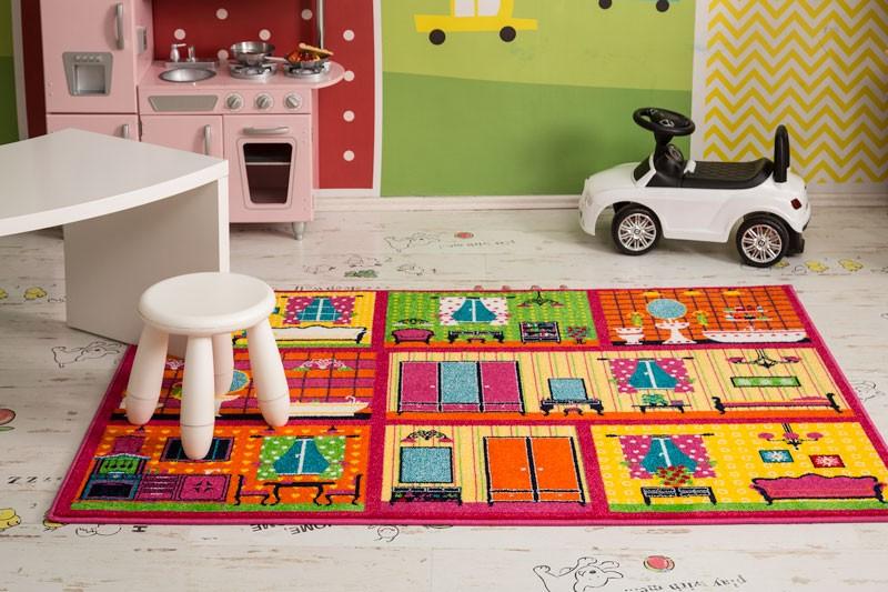 Covor living / dormitor Sintelon Play Interioare casa 89RNR polipropilena dreptunghiular multicolor 120 x 170 cm