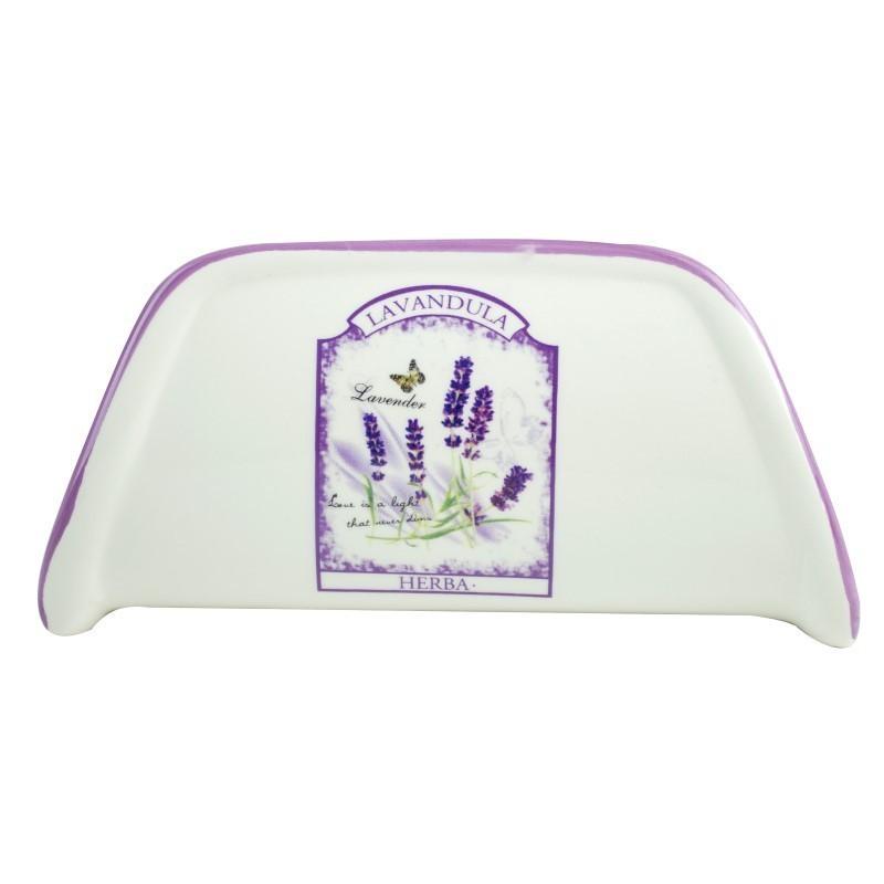 Suport pentru servetele, Kasemi, ceramica, decor lavanda