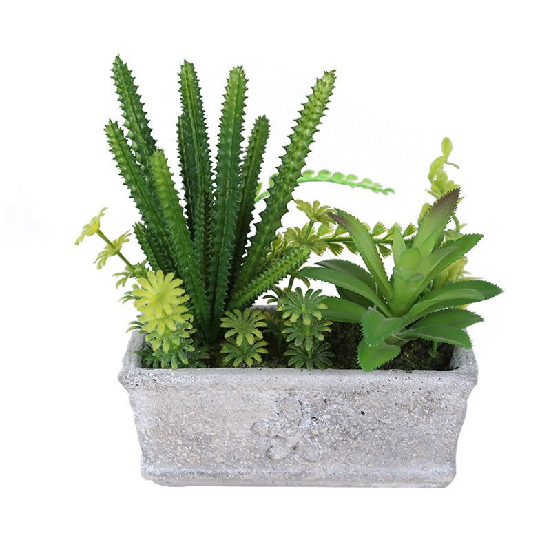 Floare artificiala, BF16-1203, verde, 20 cm