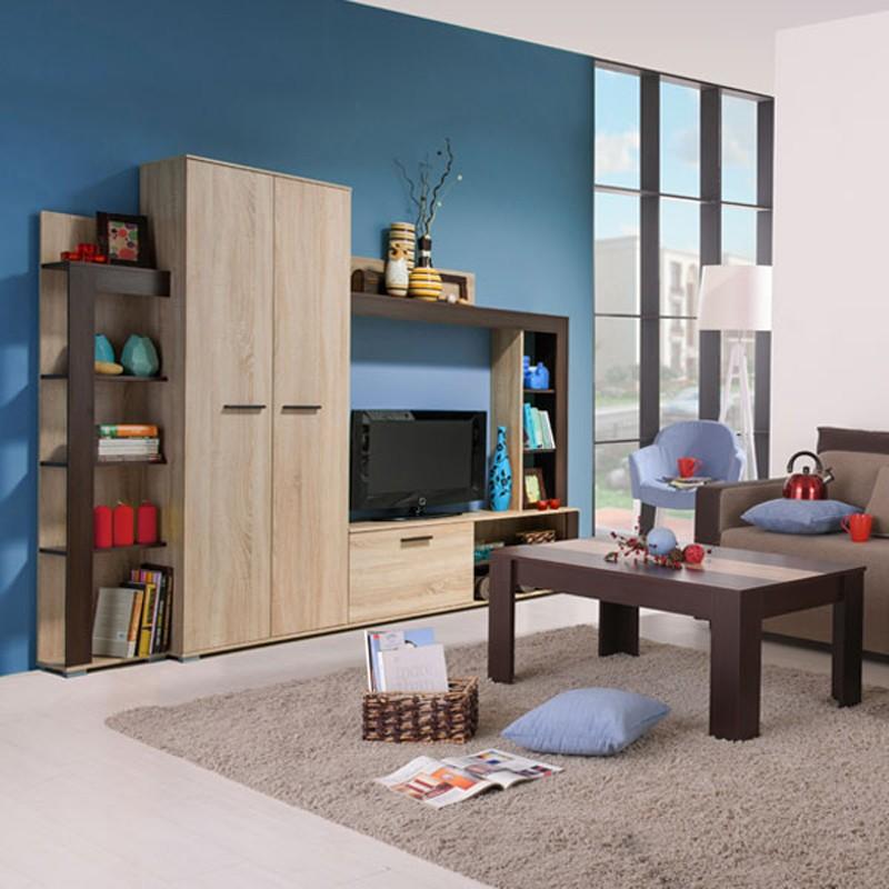 Biblioteca living Talin, sonoma + wenge, 233 cm, 3C