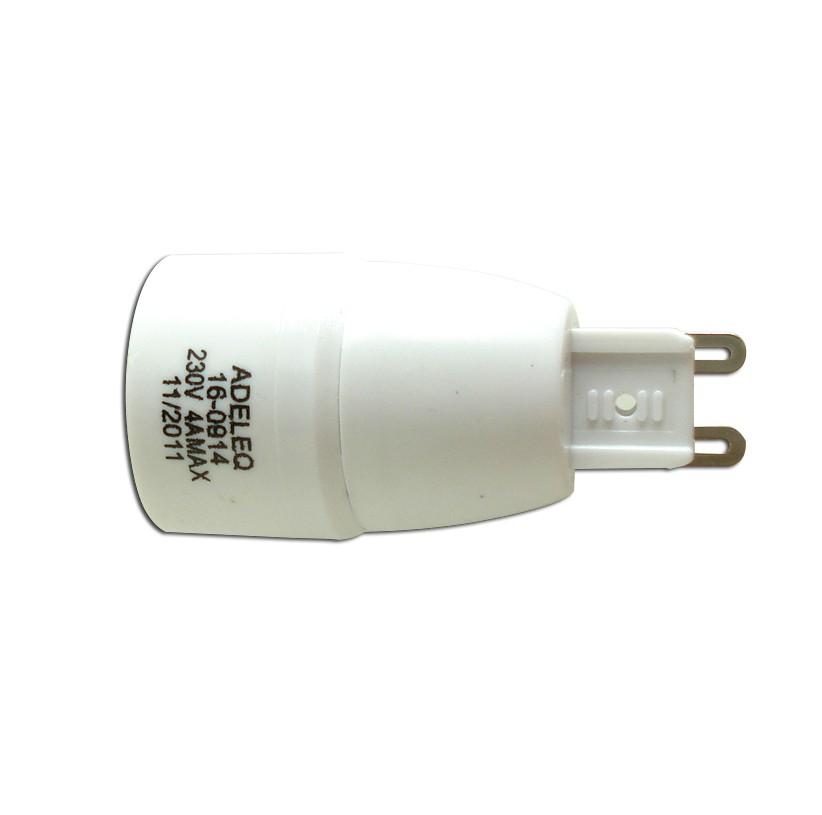 Adaptor dulie G9 - E14 plastic Adeleq 00-850/0914
