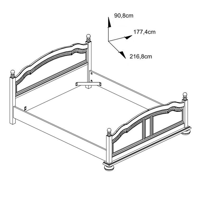 Dormitor complet Picardie, stejar antichizat patinat, 5 piese, 9C