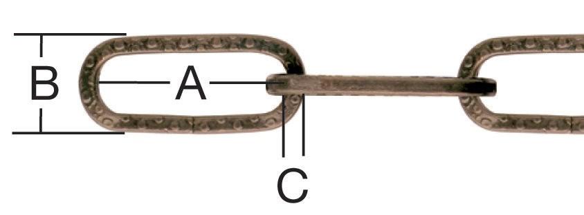 Lant cu za patrata, din otel, bronz, 2 mm