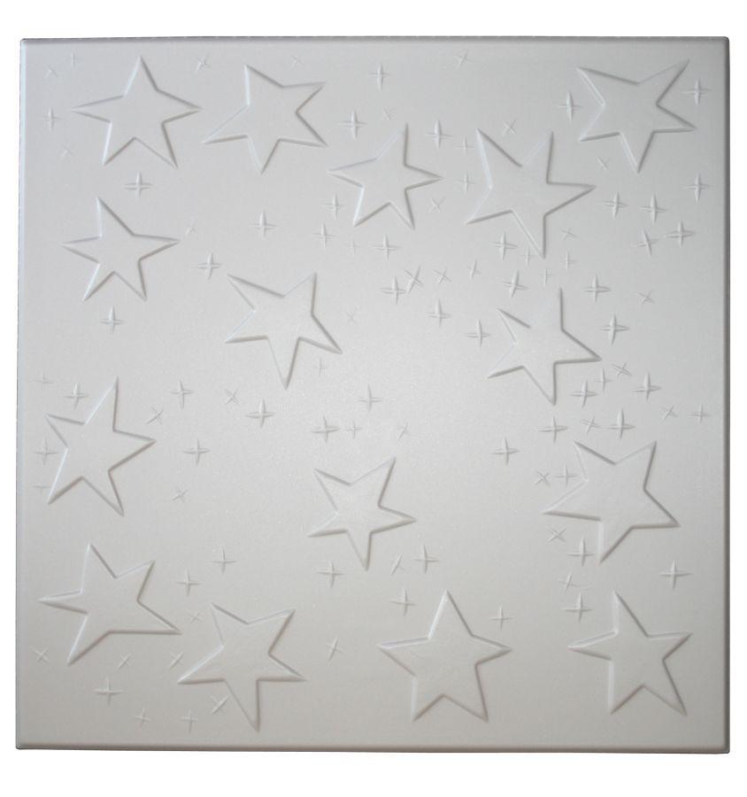 Tavan fals decorativ din polistiren C2021 modern alb 50 x 50 x 0.3 cm