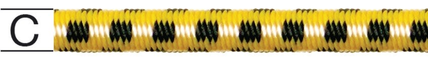 Cablu elastic, din cauciuc,  8 mm