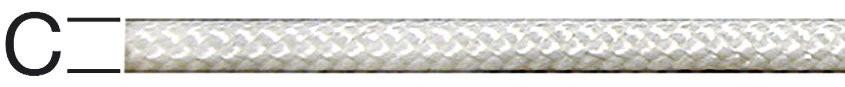 Cordon pentru jaluzele, poliester, alb, 2.8 mm