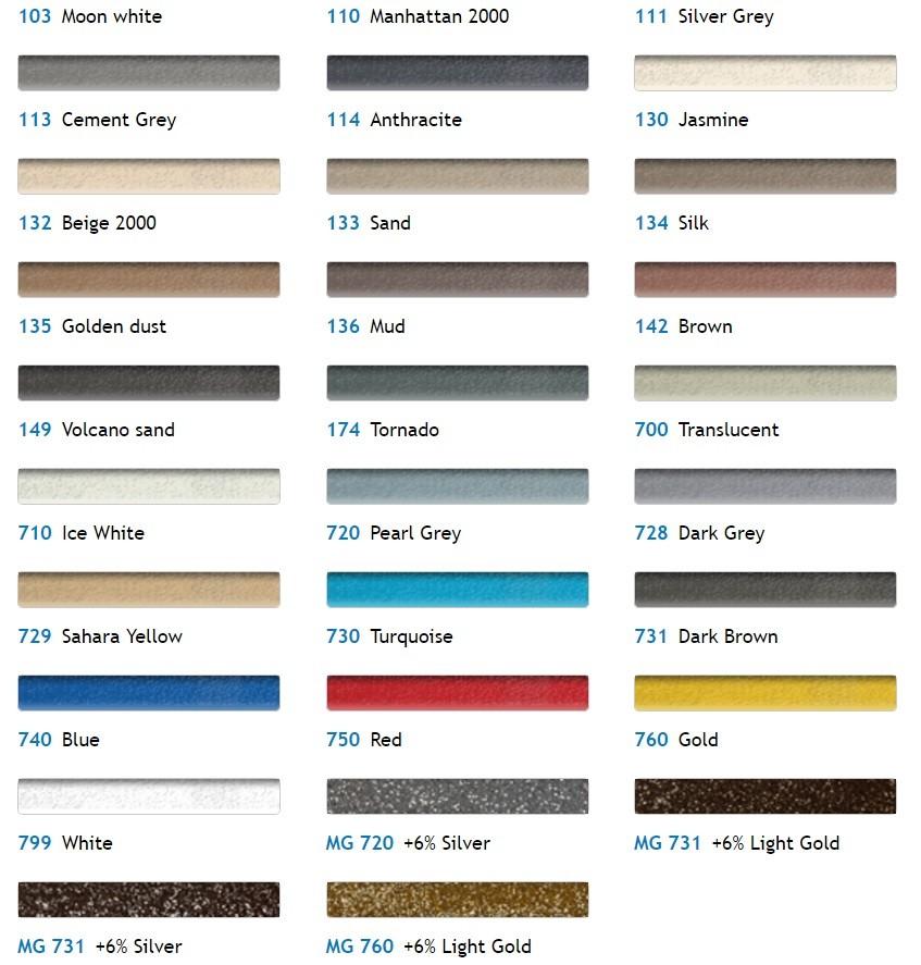 Kerapoxy Design Paleta Culori Chit Rosturi Gresie Faianta Epoxidic Gri Argintiu Interior Exterior
