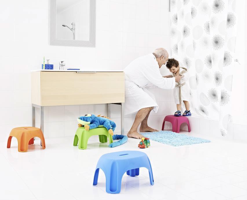 Scaun baie pentru copii A1102613, roz, 26 x 33 x 25 cm